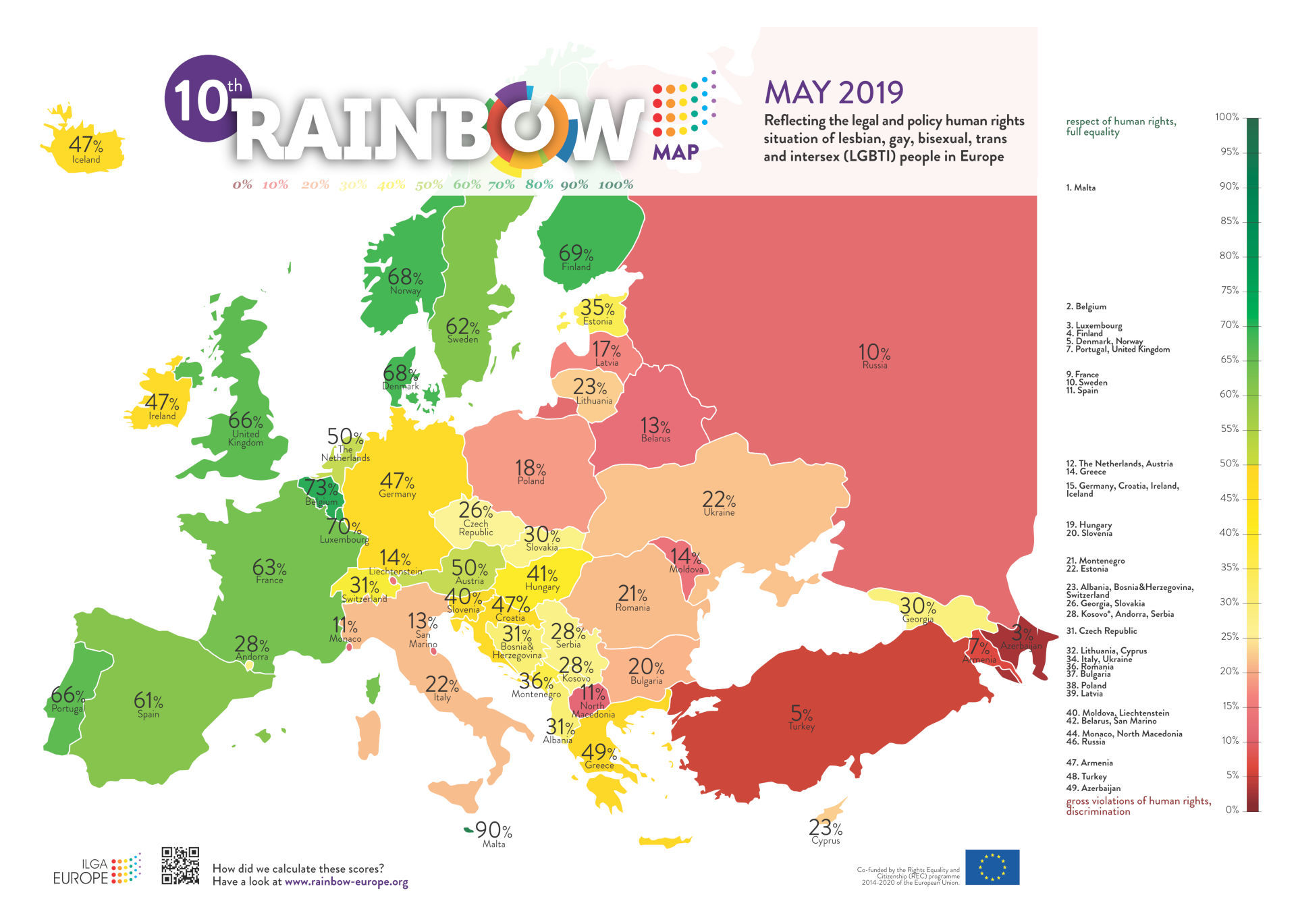 Rainbow Map Europe 2019 small